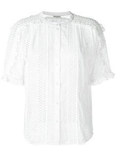 рубашка с отделкой вышивкой Masscob