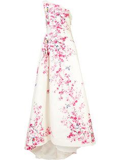 floral print ball gown  Monique Lhuillier