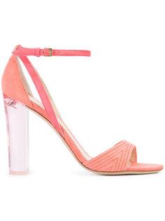 clear heel sandals  Monique Lhuillier