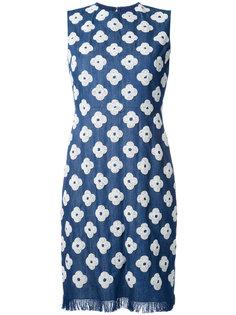 джинсовое платье с цветочным узором Huishan Zhang
