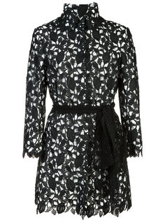 embroidered long jacket  Monique Lhuillier
