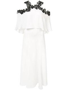 cold shoulder dress Monique Lhuillier