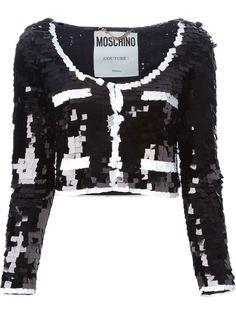 пиджак с пайетками  Moschino