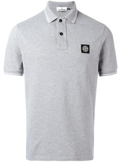 футболка-поло с заплаткой с логотипом Stone Island