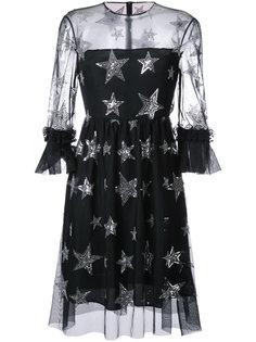платье со звездами и пайетками Huishan Zhang