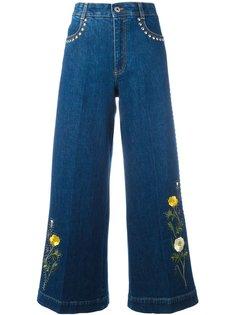 расклешенные джинсы с цветочной вышивкой Stella McCartney