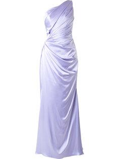 вечернее платье на одно плечо Romona Keveza