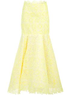 lace flared skirt  Monique Lhuillier