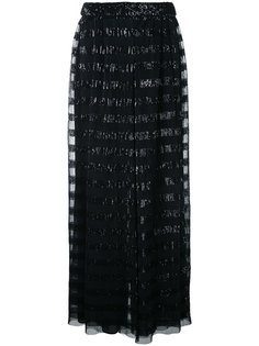 брюки палаццо с пайетками Huishan Zhang