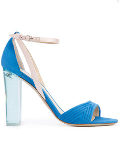 clear heel sandals  Monique Lhuillier