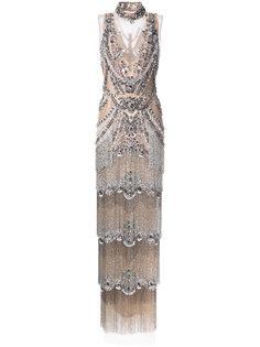 декорированное вечернее платье Marchesa