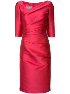 asymmetric neck dress Monique Lhuillier