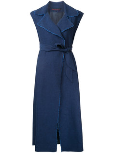 платье с запахом и необработанными краями Martin Grant