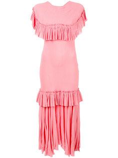 платье с оборками и эффектом помятости Marni
