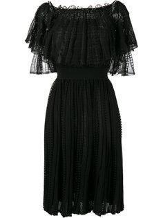 кружевное платье с открытыми плечами Alexander McQueen