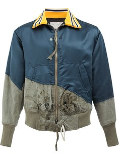 panelled bomber jacket Greg Lauren