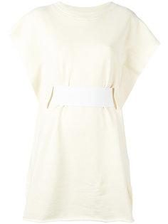 короткое платье с широким поясом Mm6 Maison Margiela