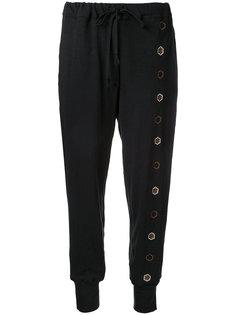спортивные брюки с цветочной вышивкой Jupe By Jackie