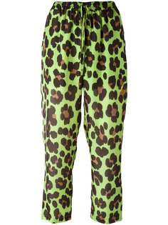 leopard print cropped trousers  Blugirl