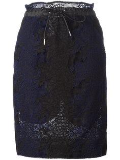 гипюровая юбка с эластичным поясом Sacai