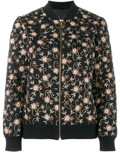 floral embroidered bomber jacket Ashish