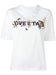 футболка с принтом логотипа Vivetta