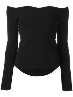 scalloped boat neck knitted top Cédric Charlier