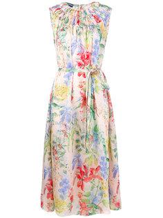 платье с цветочным принтом  Rochas