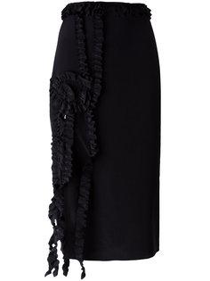 ruffled trim skirt  Rochas