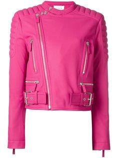 padded shoulder biker jacket Cédric Charlier