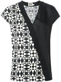 блузка с короткими рукавами и запахом Fausto Puglisi