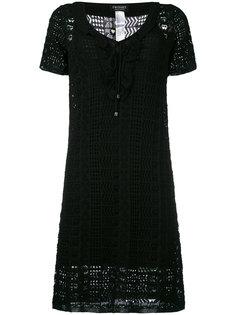 вязаное крючком платье мини Twin-Set