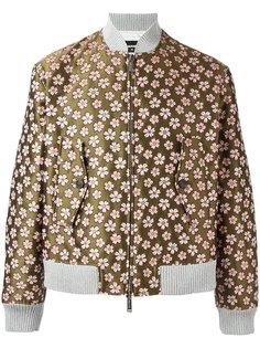 жаккардовая куртка-бомбер с цветочным узором Dsquared2