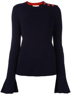 свитер с контрастными пуговицами  Tory Burch