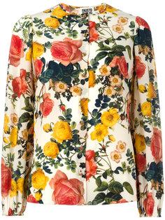 рубашка без воротника с цветочным принтом Fausto Puglisi