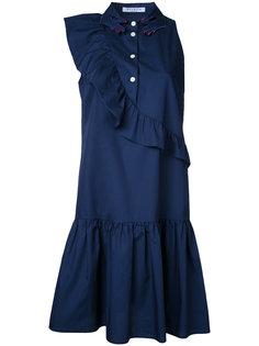 плиссированное платье с оборками Vivetta