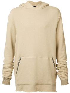 zipped kangaroo pockets hoodie Amiri