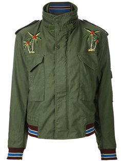 embroidered detail jacket  As65