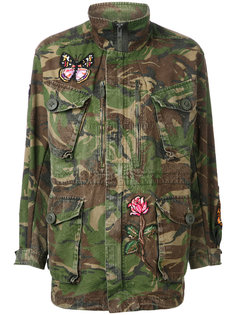 multi patched military coat  As65