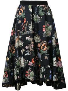 плиссированная юбка с природным принтом Vivetta