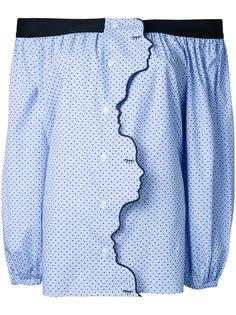 асимметричная юбка с рюшами Vivetta