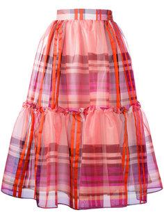клетчатая юбка с оборками Daizy Shely