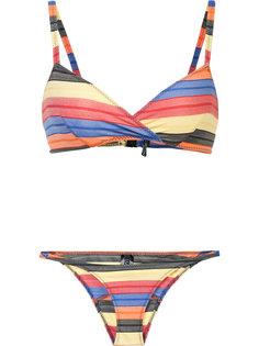 striped bikini Lisa Marie Fernandez