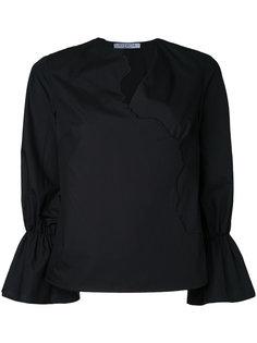 блузка с деталями в форме лиц Vivetta