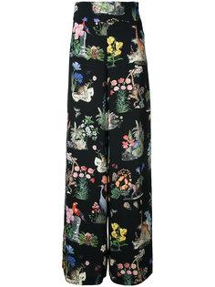 брюки с природным принтом Vivetta