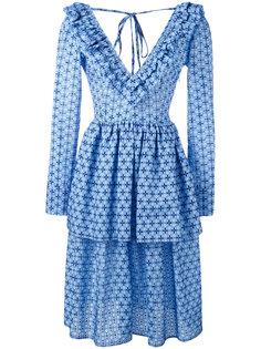 платье с рисунком и складками Daizy Shely