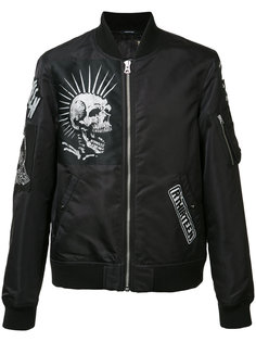 multiple patches bomber jacket R13
