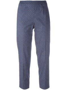 woven print cropped trousers Piazza Sempione