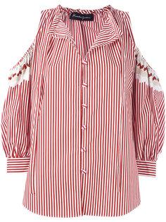 cold-shoulder striped shirt Rossella Jardini