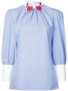 блузка с сердцами на воротнике Vivetta